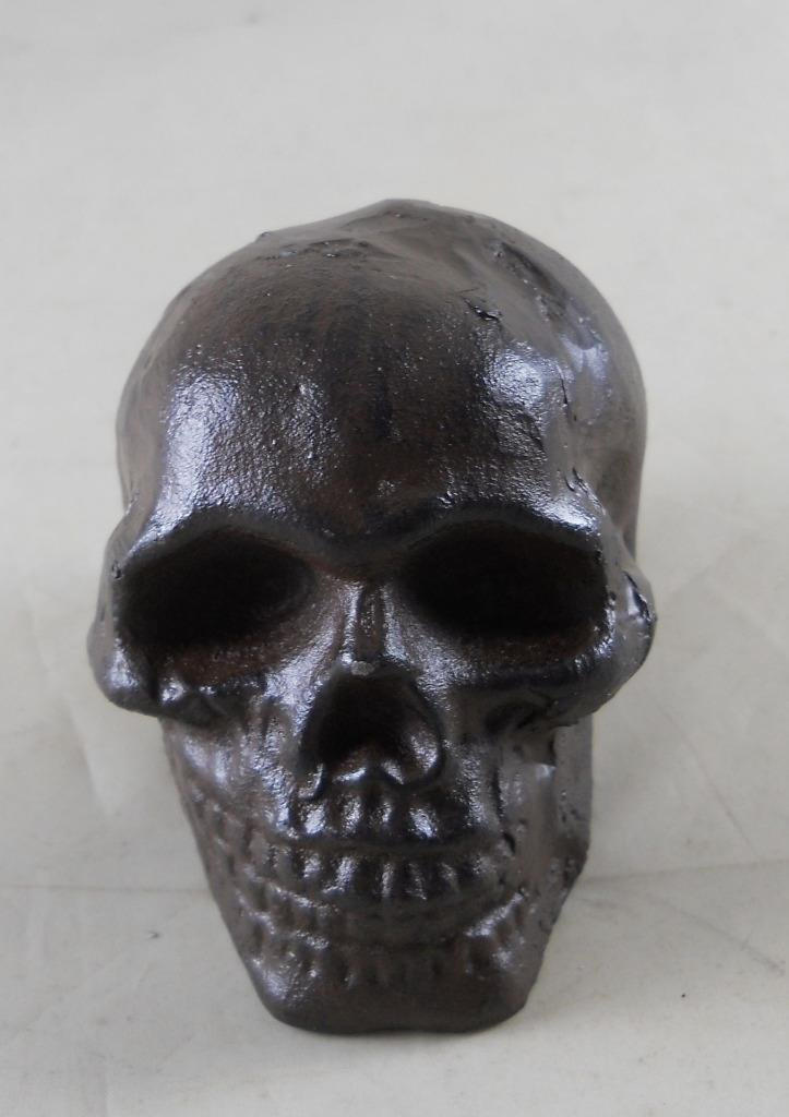 GSM Cast Iron Skull Paperweight