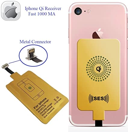 Wireless Charger, Wireless Receiver QI Receiver Charging Adapter Fast 1000 Ma for iPhone 5 5c SE 6 6 Plus 7 7 Plus Qi Charger Charging Receiver QI ...