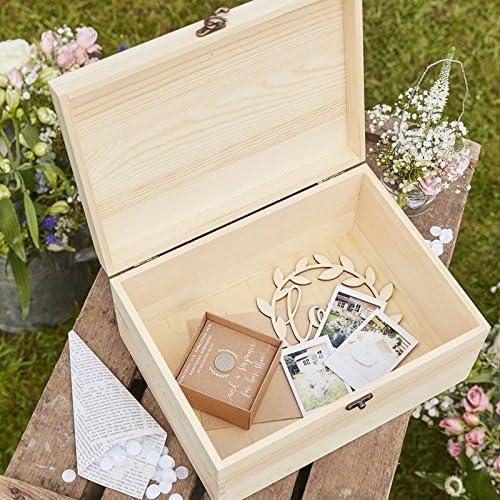 Vanharte Memory boda de caja de madera: Amazon.es: Hogar