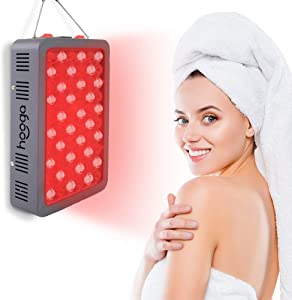 Red Light Therapy Device by Hooga. Red 660nm Near Infrared 850nm Combo. 60 LEDs. High Power Output Over 100mW/cm2 for Skin, Pain Relief, Anti Aging, Muscle Recovery, Performance and More. HG300.