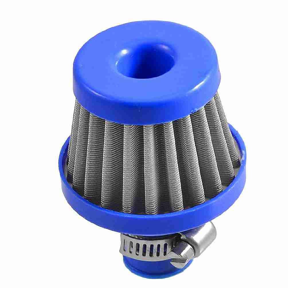 Move&Moving(TM) Vehicles Car Universal 10mm 0.5' Inlet Air Intake Cone Filter Blue