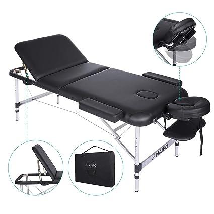 Naipo Tables De Massage Lit Cosmétique Pliante Aluminium Professionnel Portable Ergonomique Table Canapé Thérapie Haute Qualité Ultra Solide Léger