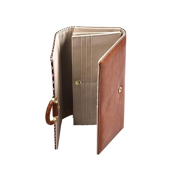 029dc708e94d Epokris Womens Long Purse Faux Leather Wallets Handle Clutch Card Holder  Case for Ladies QB014