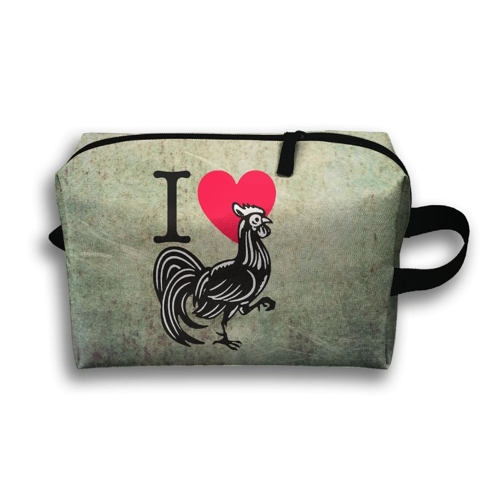 I Love Cock Travel Bag Multifunction Portable Toiletry Bag Organizer Storage
