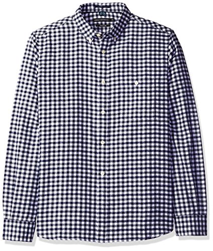 french-connection-mens-lifeline-herringbone-gingham-white-ombre-blue-xl
