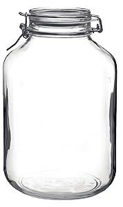 Bormioli Rocco Fido Round Clear Jar, 169-Ounce, 5 Liter