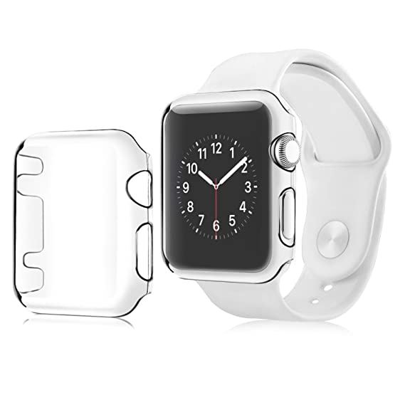 hot sale online 64a53 90fac Compatible with Apple Watch Series 1 38mm Case, Insten Crystal Clear [Ultra  Thin Slim Fit][Anti-Shock][All Around Protection] Snap-in Hard Case Skin ...
