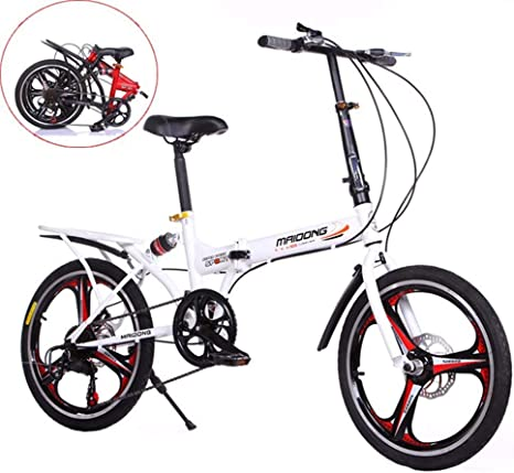Grimk Bicicleta Plegable De 20 Pulgadas De Aluminio para Unisex ...