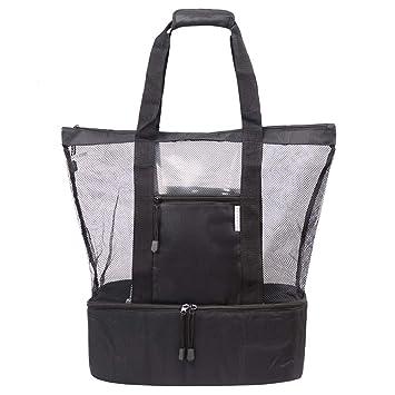 Amazon.com: ROTANET Bolsa de playa – Bolso de malla con ...