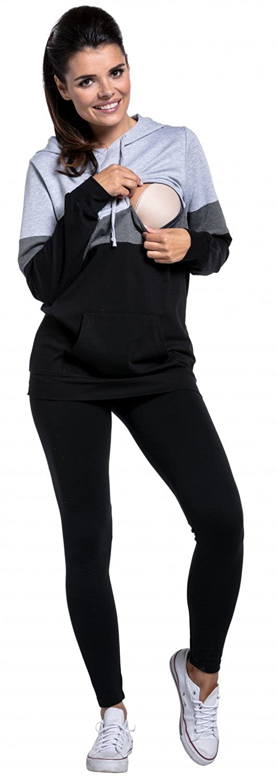 Zeta Ville - Still-Sweatshirt Farbblock Kapuze Top Kängurutaschen Kängurutaschen Kängurutaschen - Damen - 503c B0749MNMLC Kapuzenpullover Üppiges Design f82324