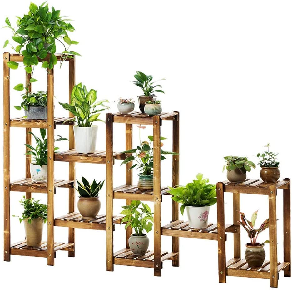 フラワースタンド植物フレーム多層木製屋内屋外植物スタンドディスプレイスタンド収納ラック120×160×28センチ