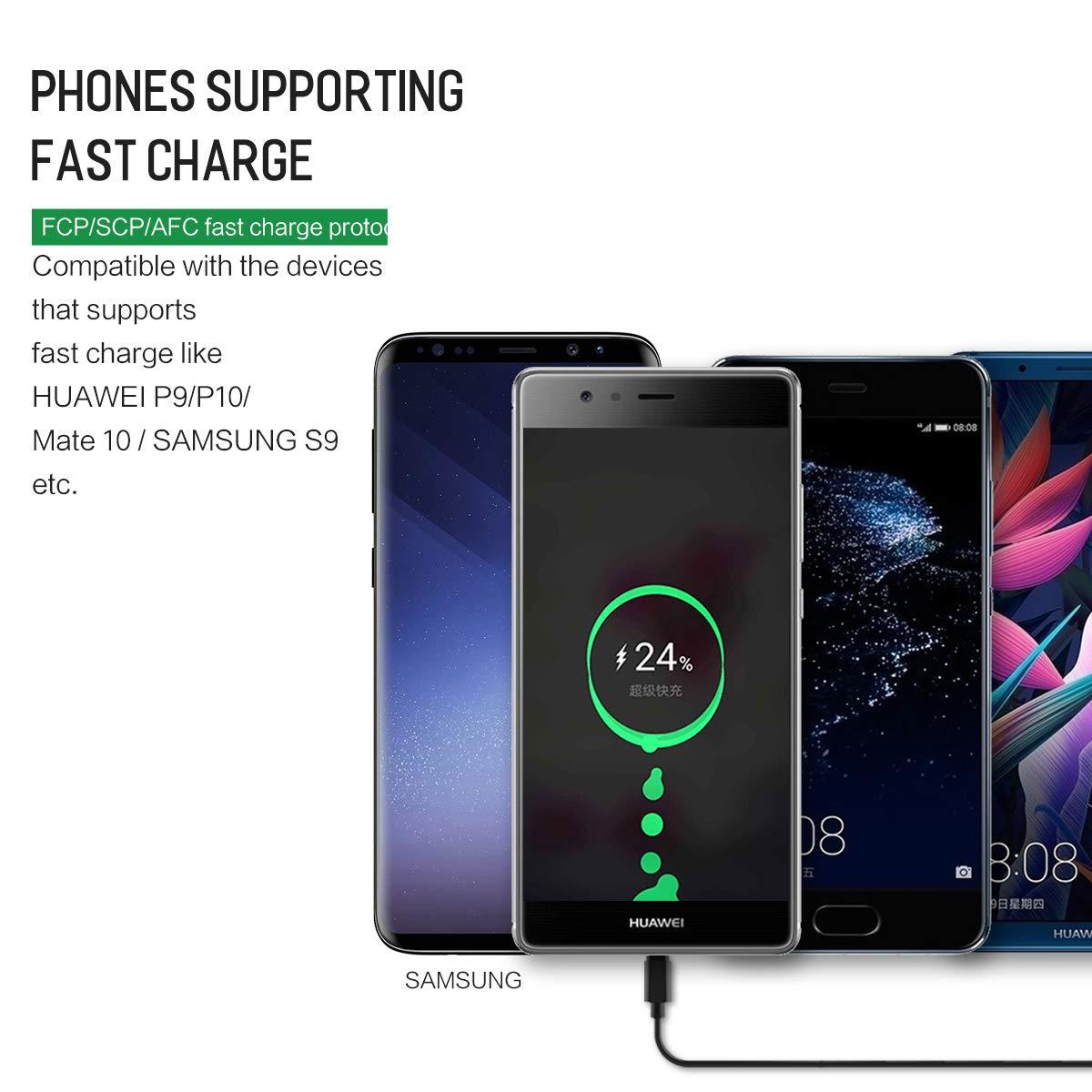 AICase 5A//30W Cargador de Coche Tipo C con PD Carga r/ápida QC3.0 Car Charger de Puerto Dual,Compatible con Apple Samsung,y Otros tel/éfonos m/óviles y tabletas iOS o Android