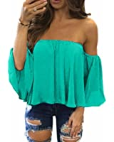 DaySeventh Summer Women Fashion Pullover Tops Off Shoulder Casual Jeans Blouse Tops Tee