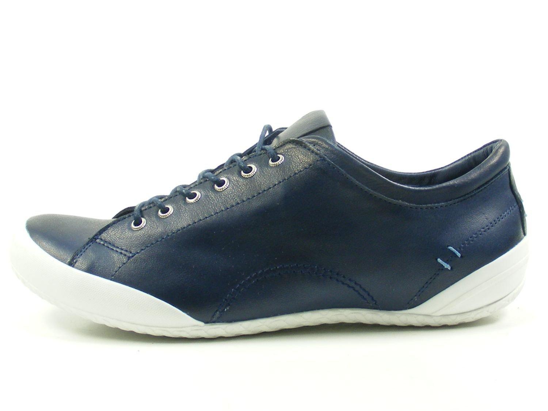 Andrea Conti 0340559 Zapatos de Cuero Para Mujer 42 EU|Azul