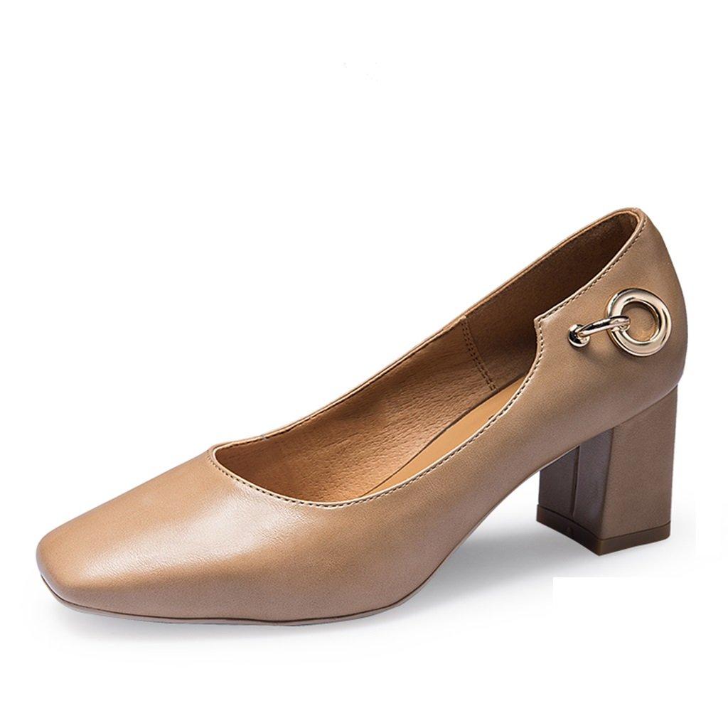 JIANXIN Frauen Frühling Und Sommer Vintage Und Und Flache Schuhe Bequeme Arbeitsschuhe Und Vintage Damenschuhe. (Farbe   Aprikose größe   EU 35 US 5 UK 3 JP 22.5cm) 1ae38c