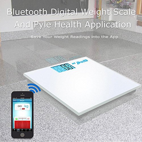 Pyle Digital Scale Smart Bathroom Body weighing scale With Wireless Bluetooth Smartphone composition analyzer for iPhone iPad & Android Devices Large Display (PHLSCBT2WT) (White) by Pyle (Image #4)