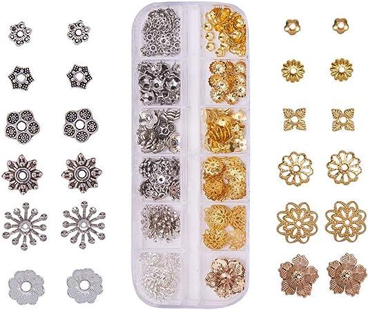 10 Coupelles fleurs metal divers couleurs 9x4mm