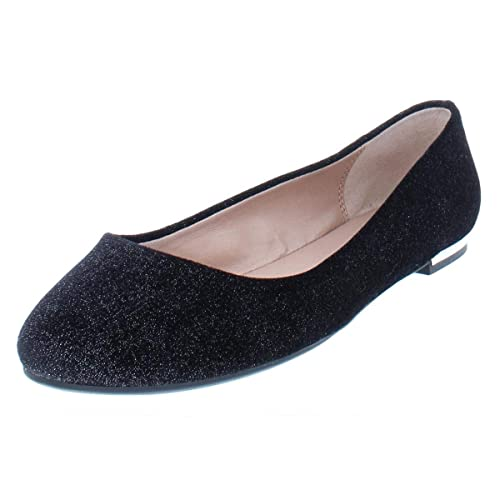 a3c33f72fb Image Unavailable. Image not available for. Color: Call It Spring Womens  Fibocchi Flats Shoes Black Velvet ...