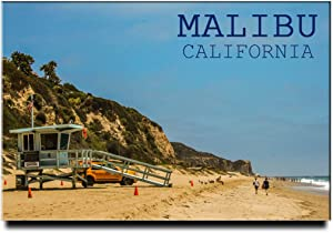 Malibu Beach Fridge Magnet California Travel Souvenir