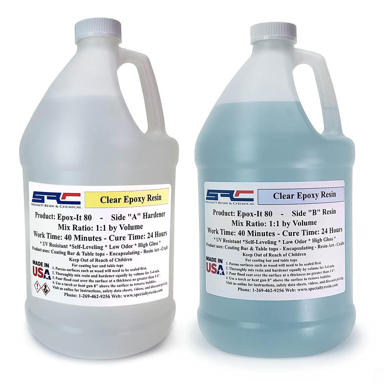 Epox-It 80 Clear Epoxy Resin for Coating Wood
