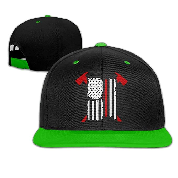 ba5d3963e184f Image Unavailable. Image not available for. Color  Mens Womens Firefighter  Red Line American Flag Baseball Cap ...