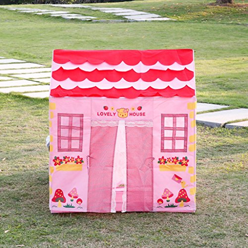 [Fairy Tale Princess Castle Childrens Indoor Outdoor Play Tent, Hours of Kids Fun < Beautiful and colorful modeling,suitable for children ABOVE 3 years old] (Animal That Starts With The Letter N)