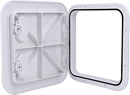 """Marine Boat Deck Access Hatch /& LID for Fisherman 17-1//4/""""Length X 12-3//8/'/' Width"""