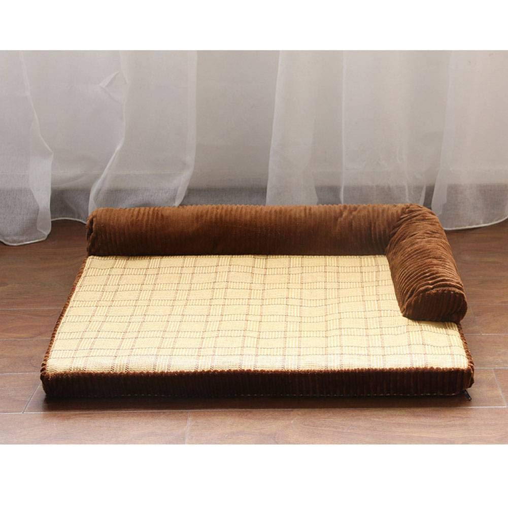 Brown-B-L ADFHGFJ Sofa pet beds provide pets with rest in of cushions suitable for four seasons