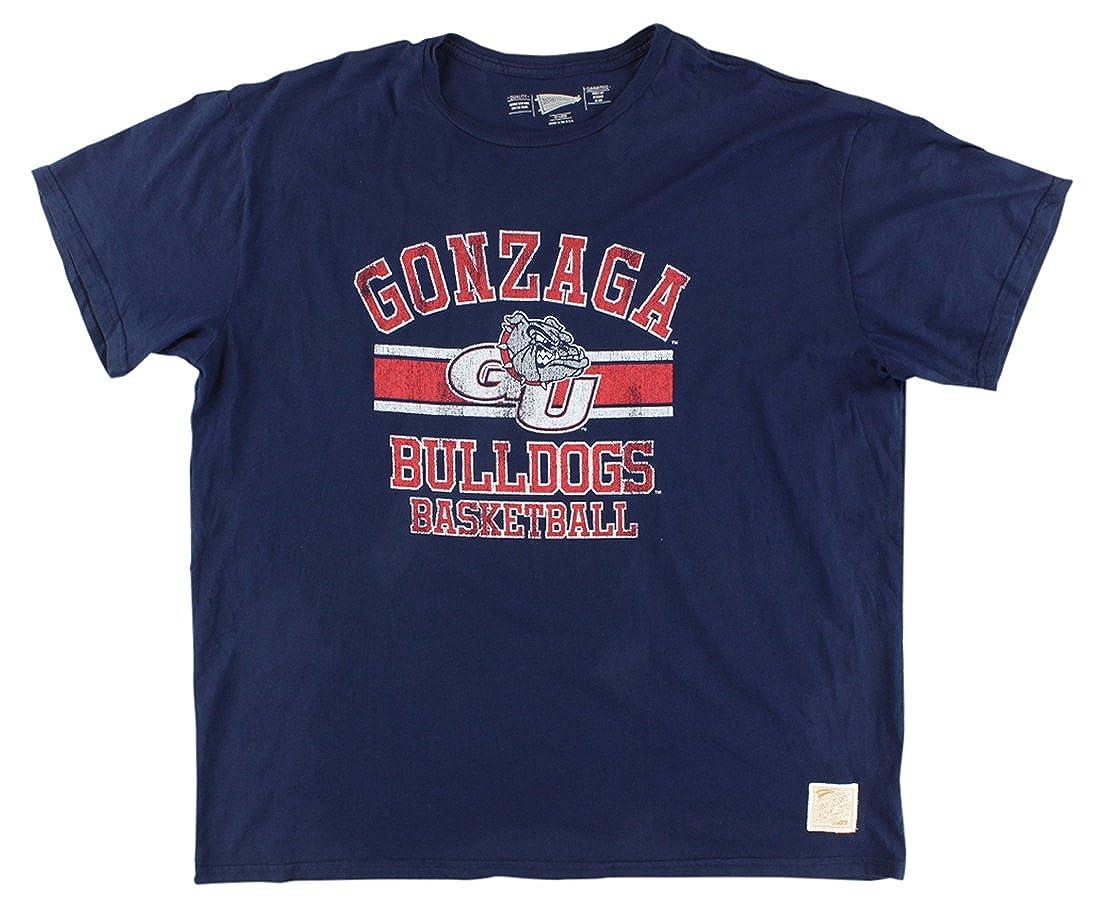 Distant Replays Mens Gonzaga College Vintage T Shirt Navy Blue