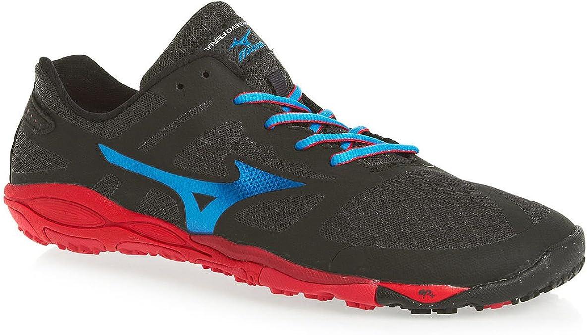 MIZUNO Wave EVO Ferus Zapatilla de Trail Running Caballero, Gris/Azul/Rojo, 39: Amazon.es: Zapatos y complementos