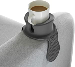 Sofa Cup Holder - Watruer The Ultimate Anti-Spill Couch Coaster Holder Food Grade Silicone Drink Holder for Your Sofa or Couch - Grey