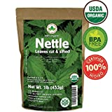 Nettle Tea, 1lb (16Oz) Cut and Sifted (Bulk Common Nettle): 100% USDA Certified ORGANIC Bulk Egyptian Stinging Nettle (Urtica Dioica), by U.S. Wellness Naturals …