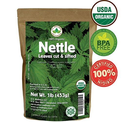Nettle Tea, 1lb (16Oz) Cut and Sifted (Bulk Common Nettle): 100% USDA Certified ORGANIC Bulk