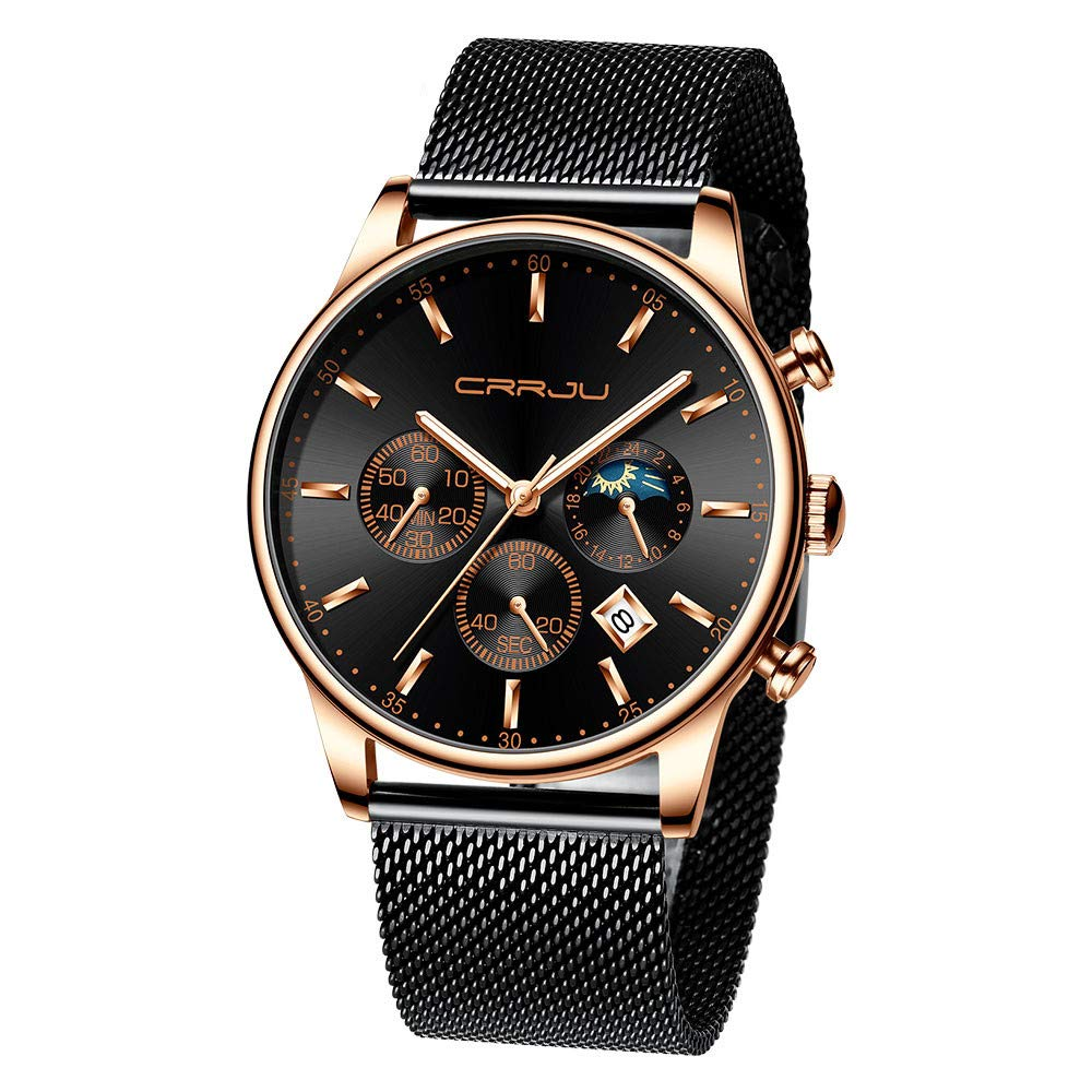 LUXISDE Women's Wrist Watches ABC Men's Watches Luxury Top Brand Quartz Chronograph Watch Fashion Sports 70 E