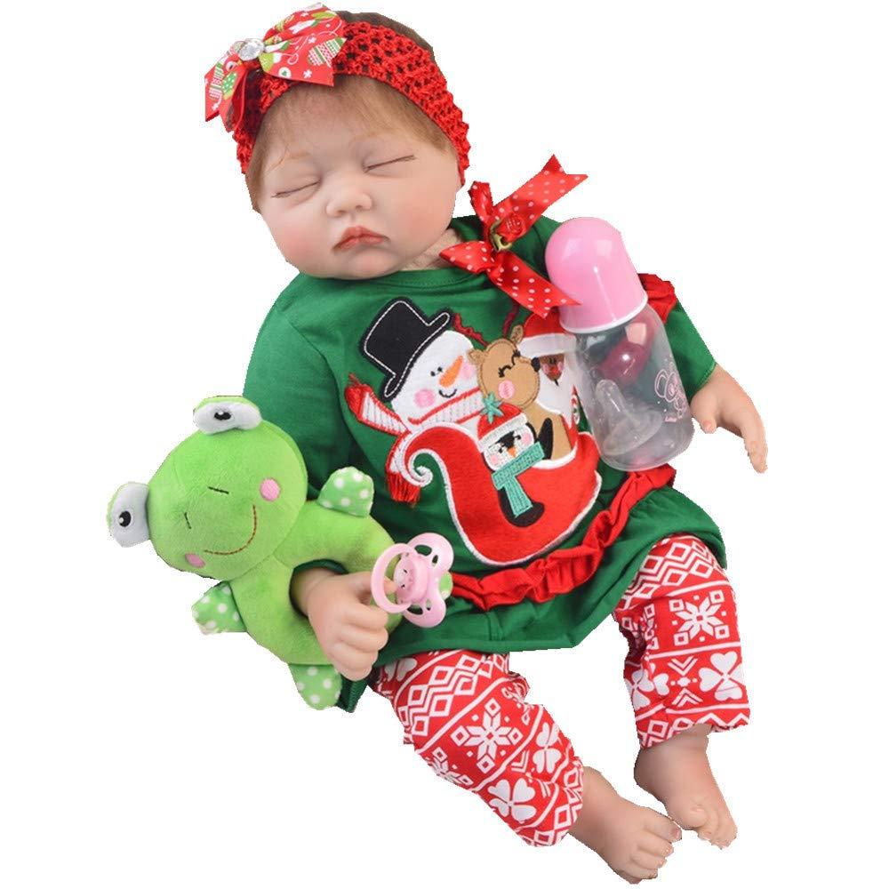 MCCW Wiedergeburt Puppe geschlossen Augen Mädchen Soft Silikon-Kloch-Körpersimulation Baby Puzzle Puzzle Geburtstagsgeschenk 22 Zoll