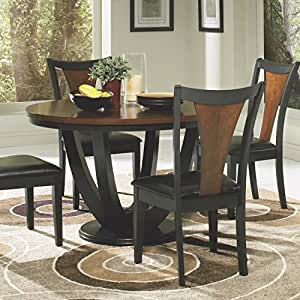 Amazon.com - Coaster - Boyer Standard Height Table, Black and Cherry ...