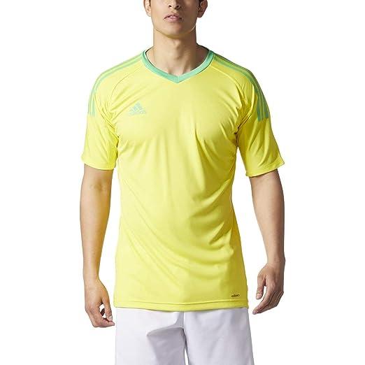 adidas Revigo 17 Mens Short Sleeve Goalkeeper Soccer Jersey YXS Bright  Yellow Energy Green d76340d84
