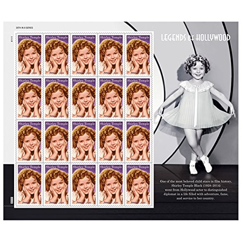 2016 Shirley Temple Pane of 20 Forever Stamps By USPS