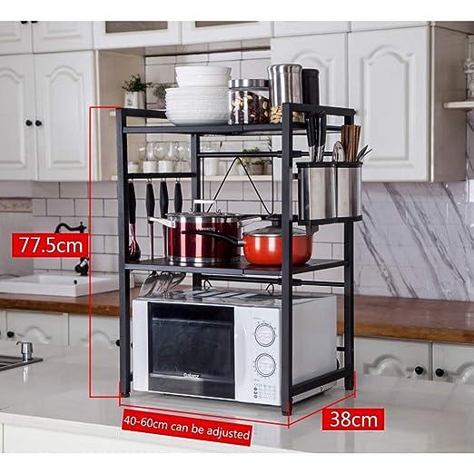 ZXCC Acero Inoxidable Expandible Estantería De Microondas, Cocinas ...