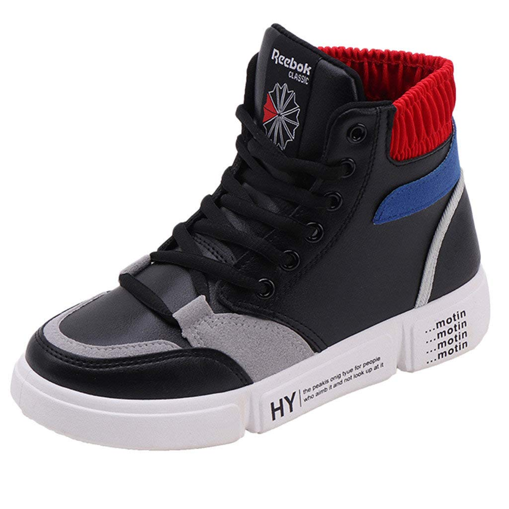 Zapatillas Deportivas de Mujer Running Sneakers de Deporte Altas Planas Respirable Zapatos Ligero Transpirable Correr Trail Fitness Casua Sports Shoes Negro ...