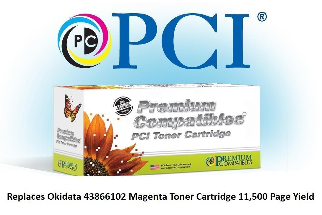 Tinta reemplazo 43866102-PCI y cartucho de tóner para impresoras Okidata, Magenta