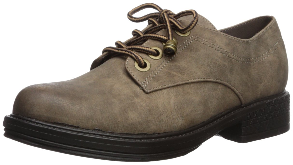 2 Lips Too Women's Too Riddle Oxford, Taupe, 8.5 M US