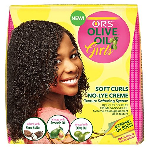 ORS Olive Oil Girls, Soft Curls No-Lye Crème Texture Softening System, 1 kit