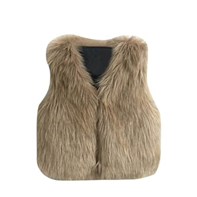 660a91bce HOMEBABY Toddler Kids Baby Girl Faux Fur Gilets