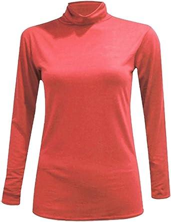 New para Mujer Camiseta de Manga Larga para Tortuga Polo Cuello ...