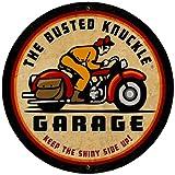 Busted Knuckle Garage BUST056 Oversized Vintage Motorcycle Metal Shop Sign
