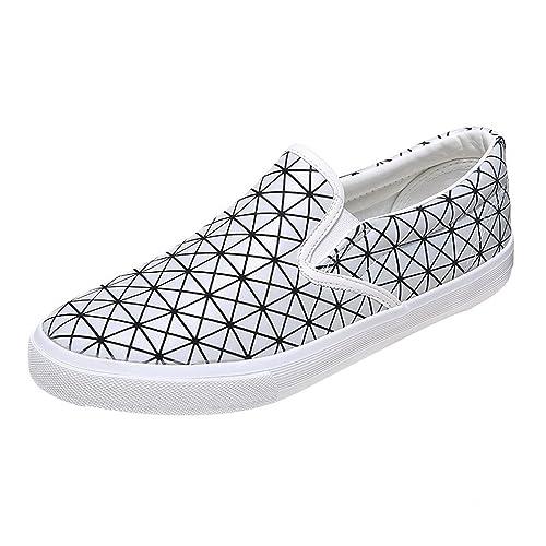 Orangetime - Mocasines de Charol para hombre, color blanco, talla 42: Amazon.es: Zapatos y complementos