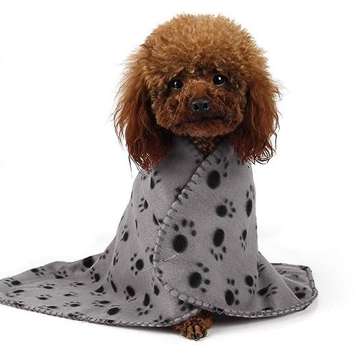 100 x 70 cm con Stampa di Impronte di Zampe Coperta in Morbido Pile per l/'Inverno Morbida e Calda Coperta per Cani e Gatti Lavabile per Gatti e Cani EqWong