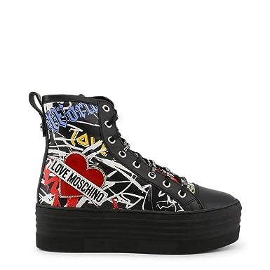 0fb0a761b3435 Amazon.com: Love Moschino Women's Designer Sneakers JA15076G16IP ...