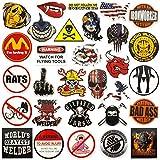 Hard hat stickers  Big 30-Pack   Badass American patriotic accessories for helmet,hardhat,welding,tool box,construction,union,military,ironworker,lineman,oilfield,electrician,pipeliner,ibew